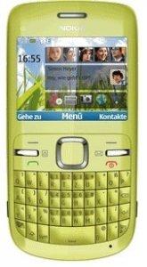 Nokia C3-00 QWERTY-puhelin, vihreä