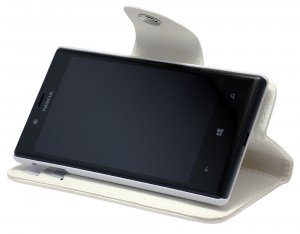 Wave BookCase suojakotelo, Nokia Lumia 720, valkoinen