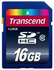 Transcend 16GB Class 10 SDHC-muistikortti