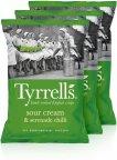 Tyrrells Sour Cream & Serenade Chilli -perunalastut, 3 x 150 g