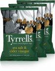 Tyrrells Sea Salt & Cider Vinegar -perunalastut, 3 x 150 g
