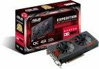 Asus EX-RX570-O4G Radeon RX 570 4 Gt -näytönohjain PCI-e-väylään