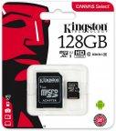 Kingston 128 Gt microSD Canvas Select UHS-I Speed Class 1 (U1) -muistikortti