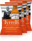 Tyrrells Worcestershire Sauce & Sundried Tomato -perunalastut, 3 x 150 g