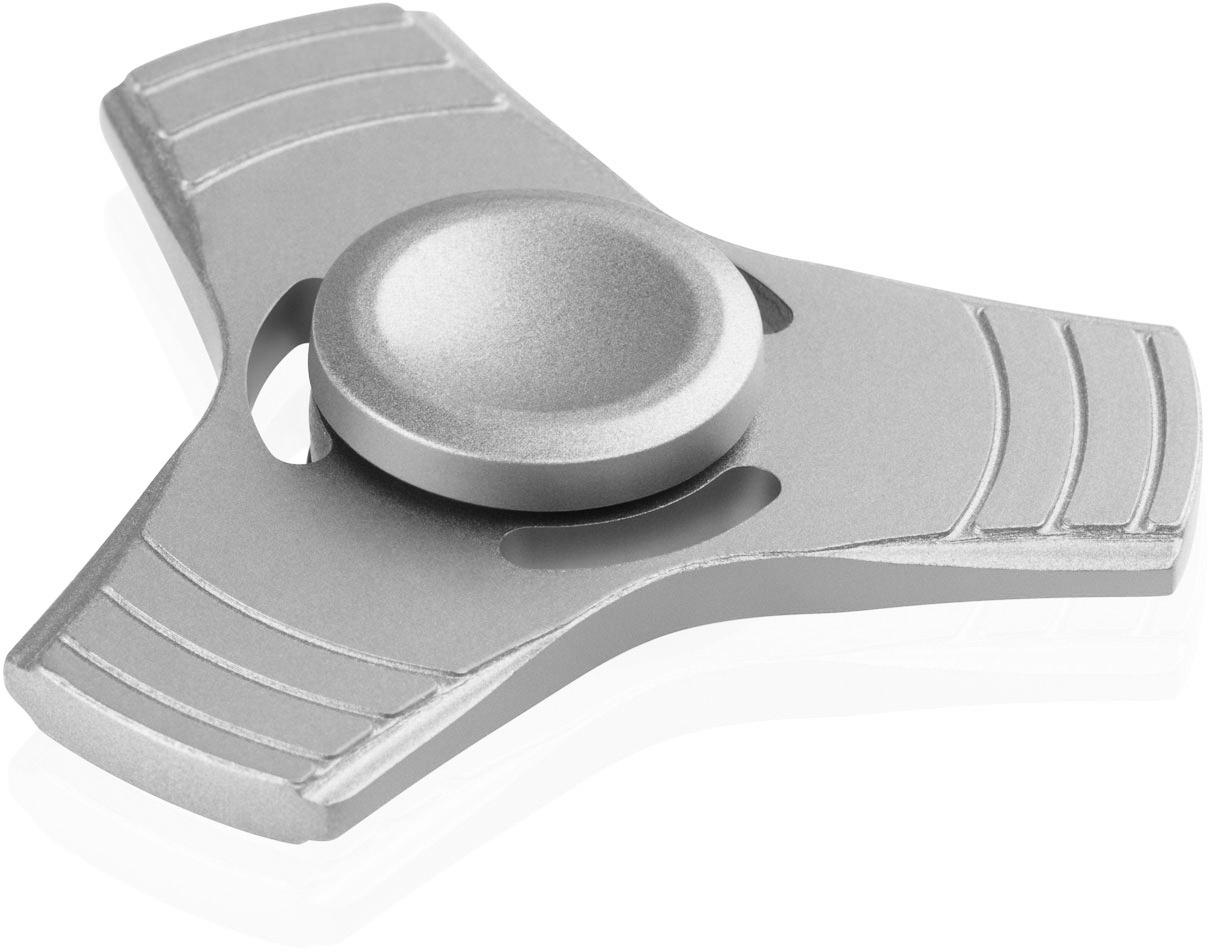 Fuj:tech Fidget Spinner ‐sormihyrrä, metallinen, väri hopea – Stressilelut – Pelit ja oppiminen ...