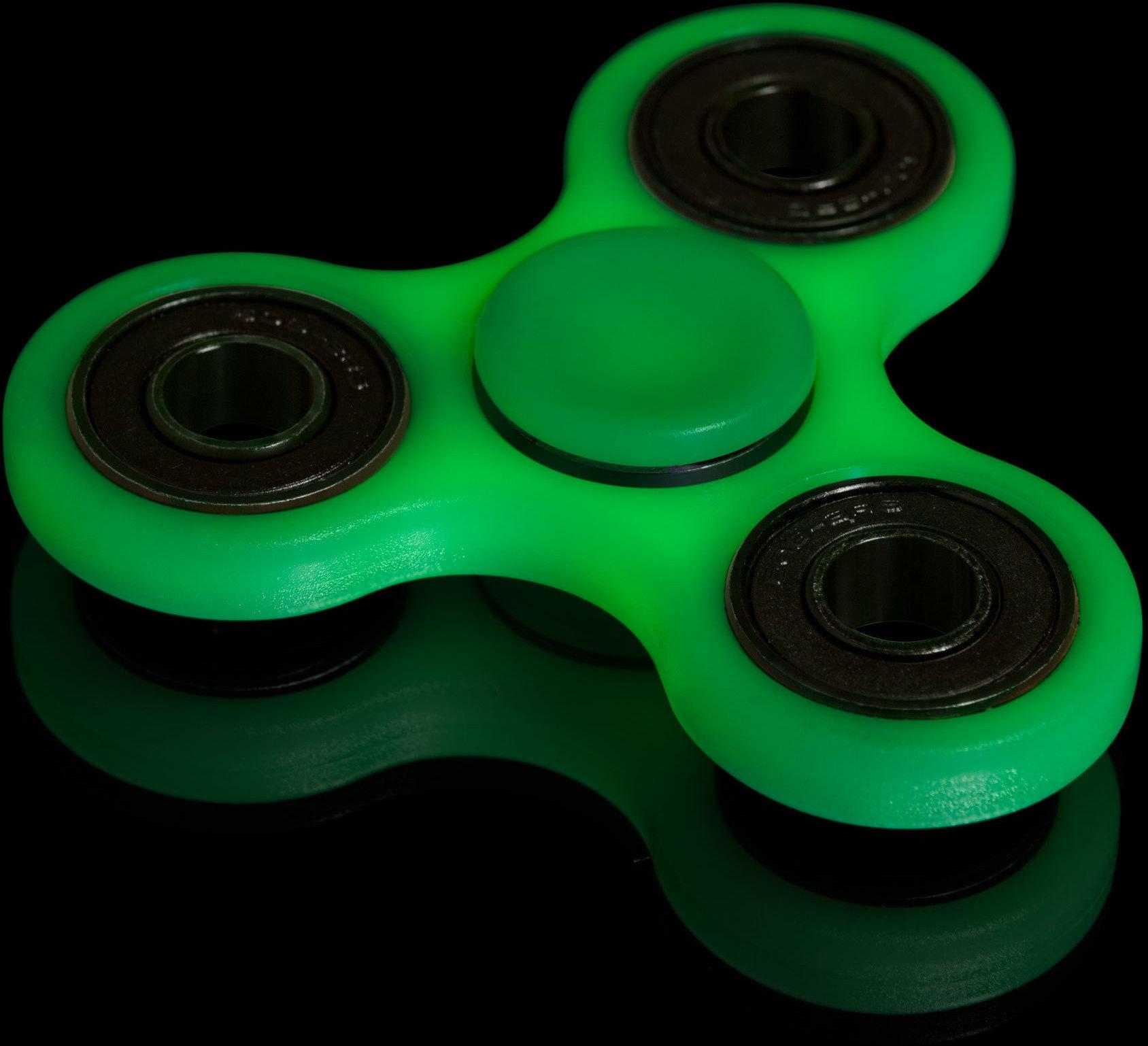 Fuj:tech Fidget Spinner ‐sormihyrrä, TRIPLAPAKKAUS, pimeässä hohtava x 3 kpl – Stressilelut ...